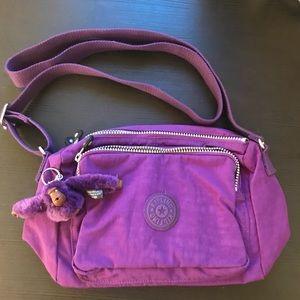 EUC Kipling Electric Purple Crossbody Bag